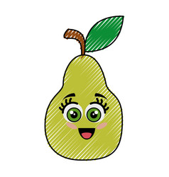 pear funny cartoon vector image
