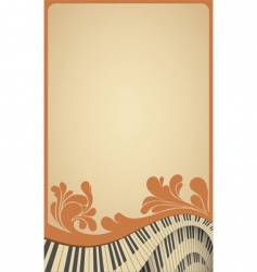 piano poster vector image vector image