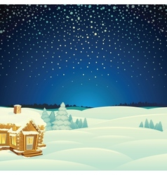 Winter Landscape Cartoon vector image