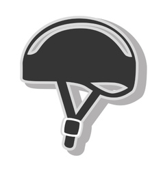 Bike helmet safety icon design vector