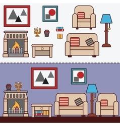Home furniture Interior design vector image vector image