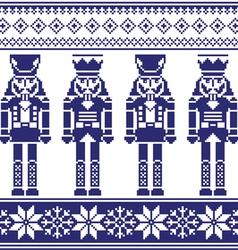 Nutrckrackers seamless Christmas winter pattern vector image vector image