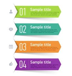 Text box infographics element vector image