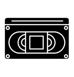 video cassete icon black vector image