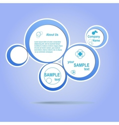 Abstract web design blue bubble vector image vector image