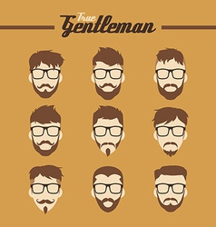 Hipster guy vector