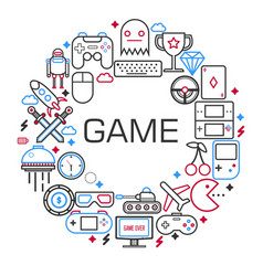 internet games poster of electronic game and vector image