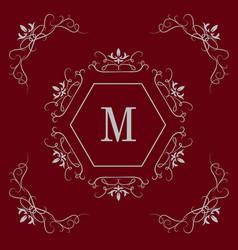 luxury logo template vector image vector image