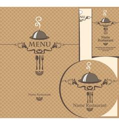 tray menu vector image vector image