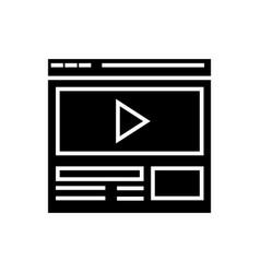 video marketing - online video clip icon vector image