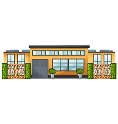 A building with green plants vector image