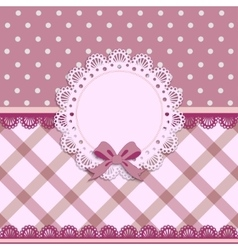 beautiful background with a cloth napkin and bow vector image vector image