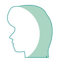 Profile head woman human female avatar vector