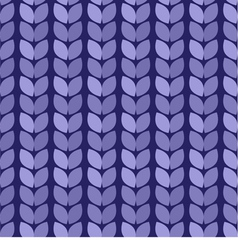 Seamless background Knitted blue surface vector image vector image
