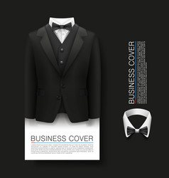 tuxedo cover background complimentary ticket vector image