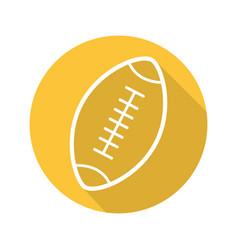 american football ball flat linear long shadow vector image