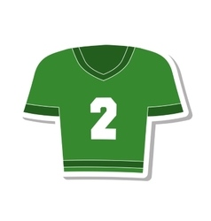 American football shirt icon vector
