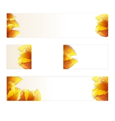 Autumn theme banners vector image