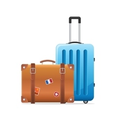 baggage travel suitcase icon vector image