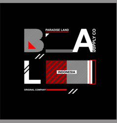 Bali paradise land indonesia supply co vintage vector