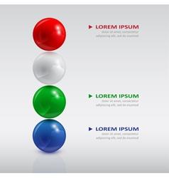 balls infographic2 vector image