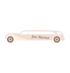 Beige wedding car on white vector image