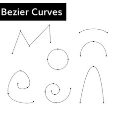 bezier curves set vector image