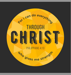 bible quote from philippians on polygon background vector image