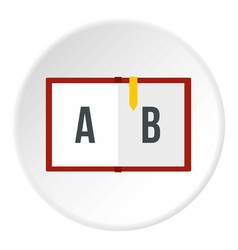 Children abc icon circle vector