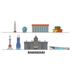 china shanghai flat landmarks vector image