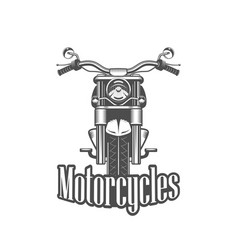 chopper motorcycle front side isolated vector image