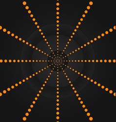 Circular orange dots background wallpaper vector