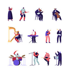 classical and popular music artists set symphony vector image