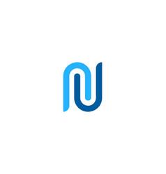 clip letter n logo icon design vector image
