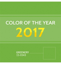 Color of the year 2017 greenery background vector image