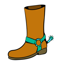 Cowboy boot icon icon cartoon vector