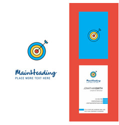 dart creative logo and business card vertical vector image