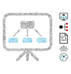 Dash mosaic scheme demonstration screen vector