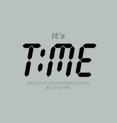 Digital clock style font vector