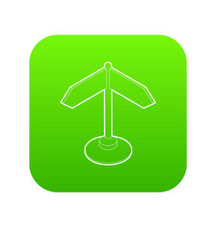 direction sign icon green vector image