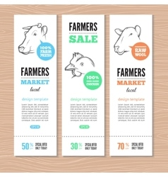 Farm banners vector