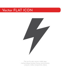 Flat icon lightning for web business finance vector