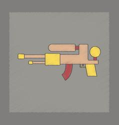 Flat shading style icon kids water gun vector