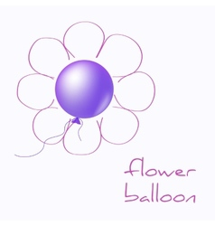 Flower balloon vector image vector image