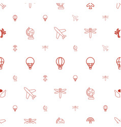 Fly icons pattern seamless white background vector