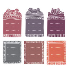 Frames in shapes jumpers and rectangular vector