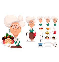 grandmother wearing eyeglasses vector image