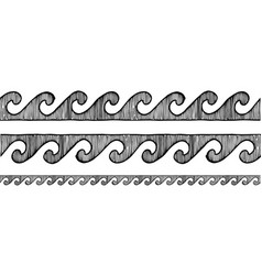 greek wave grecian ornament vector image
