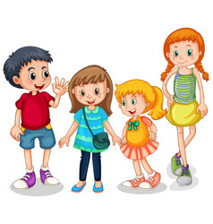 Group young children vector