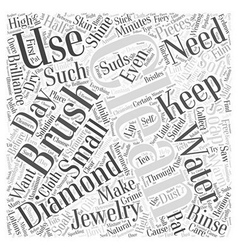 How to clean your diamonds Word Cloud Concept vector